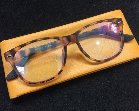 A pair of tortoise shell frames