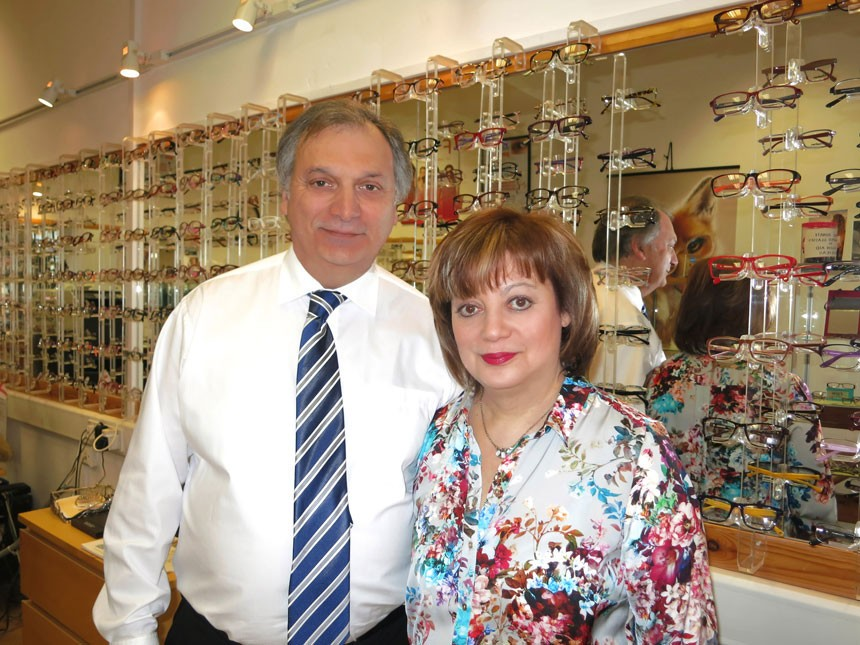 Harvey and Jane Kaye at Queens Crescent Eyecare