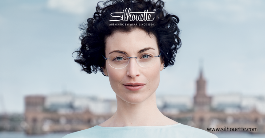 Woman wearing Silhouette Glasses