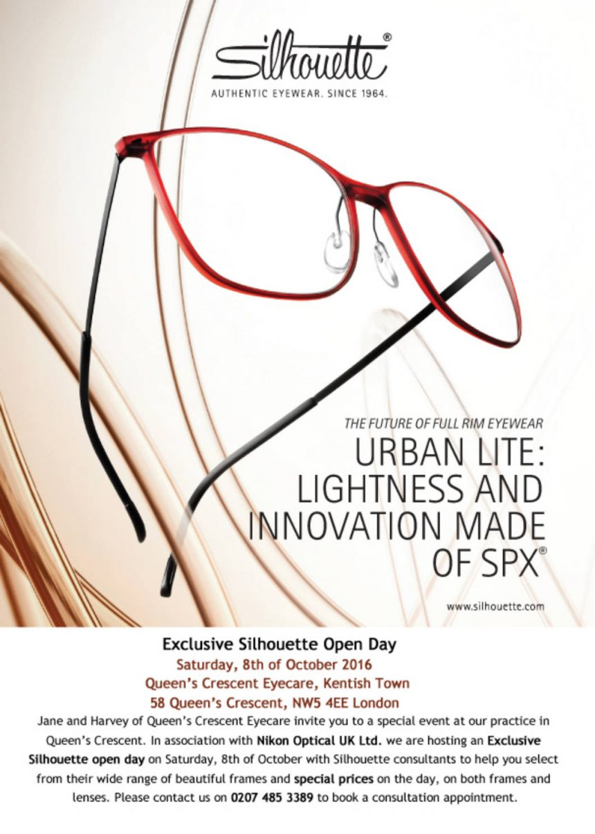 Queens Crescent Eyecare style day invite 2016