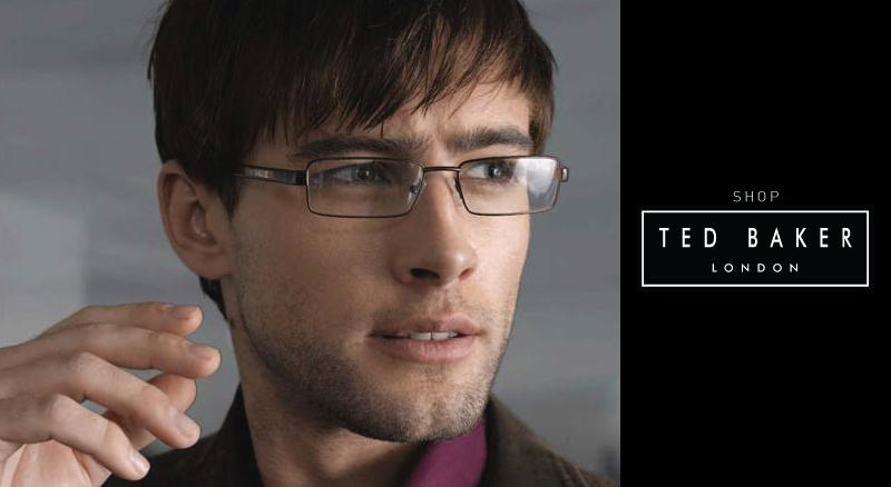 Young man wearing Ted Baker glasses